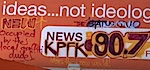 Thumbnail image for KPCC radio billboard 'Occupied' by KPFK radio listener