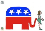 Thumbnail image for Remember, ladies, the GOP elephant never forgets (toon)
