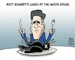 Thumbnail image for What was on the menu at Romney's White House lunch? (toon)