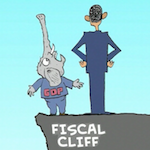 Thumbnail image for Eeeeek!  It's the Fiscal Cliff! (video toon)