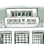 Thumbnail image for Welcome to the George W. Bush Presidential Library (toon)