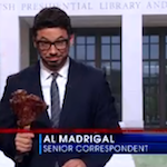 Thumbnail image for Al Madrigal schools Jon Stewart on the George W. Bush Library (video)
