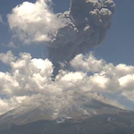Thumbnail image for Popocatépetl explodes again, webcam gets it all (video)