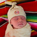 Thumbnail image for All I want for Xmas is a burrito-wrapped baby in a tamal-looking hat
