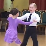 Thumbnail image for Denis and Gabrielle dance a pre-teen cha-cha for Spring (video)