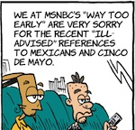 Thumbnail image for La Cucaracha: What is the real problem at MSNBC? (toon)