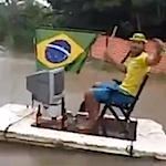 Thumbnail image for Watch: In Brazil, one fútbol fan floats some social criticism