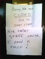 Thumbnail image for Personnel issues close taqueria, customers try to help (photo)