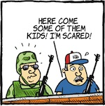 Thumbnail image for La Cucaracha: Border militias say 'Don't mess with Texas!' (toon)