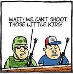 Thumbnail image for La Cucaracha: Militias on the border — so cute! (toon)