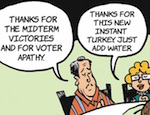 Thumbnail image for La Cucaracha's characters are thankful, tambien (toon)
