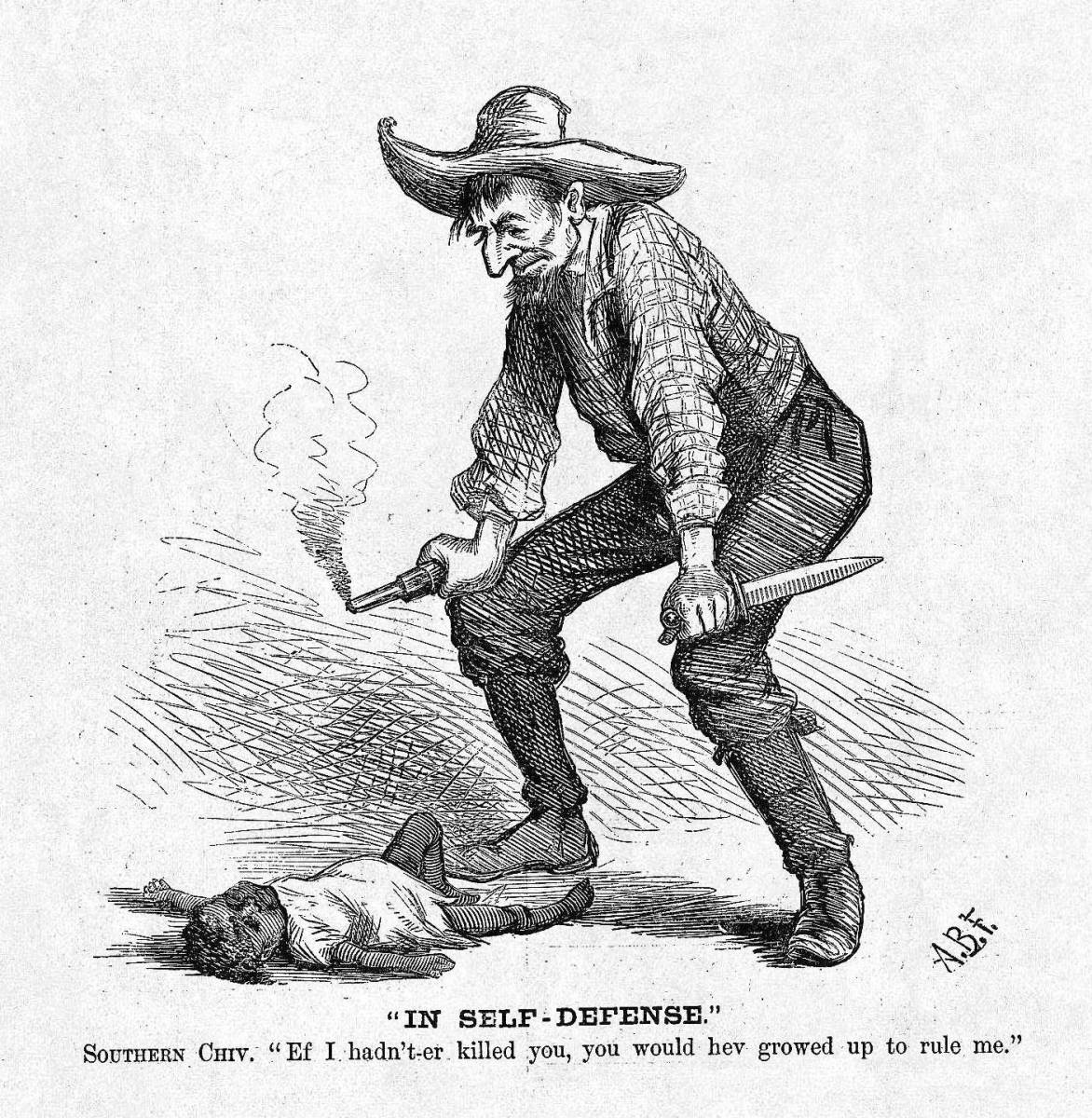 i killed that african american kid in self defense 1876 toon pocho