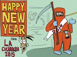 Thumbnail image for La Cucaracha wishes you a Happy New Year 2015 (toon)
