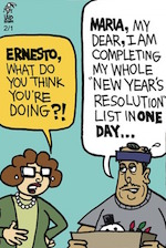 Thumbnail image for La Cucaracha: New Year's Resolution Progress Report? (toon)
