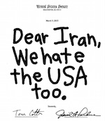 Thumbnail image for From: U.S. Senate To: Iran  Dear Iran… (toon)