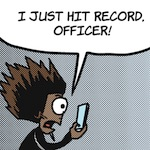 Thumbnail image for La Cucaracha: My cellphone camera is recording, officer (toon)