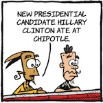 Thumbnail image for La Cucaracha: When Hillary eats Mexican food (toon)