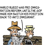 Thumbnail image for La Cucaracha: Marco Rubio on immigration reform (toon)