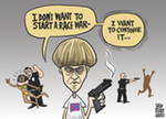 Thumbnail image for White wing terrorist Dylann Roof didn't start the fire (toon)