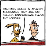 Thumbnail image for La Cucaracha: Good news about the Confederate flag (toon)