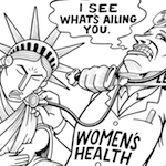 Thumbnail image for Cutting funding for women's healthcare (toon)