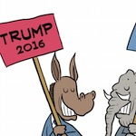 Thumbnail image for Dems, GOP reveal picks for top of the ticket in 2016 (toon)