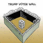 Thumbnail image for Donald Trump builds a wall (toon)