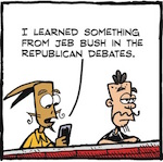 Thumbnail image for La Cucaracha: History according to Jeb! Bush (toon)