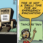 Thumbnail image for La Cucaracha: Local school declares emergency, evacuation (toon)