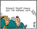 Thumbnail image for La Cucaracha: Hispanics love Trump! Arriba, arriba! (toon)