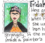 Thumbnail image for Why I love Frida Kahlo, artistic bad-ass (toon)