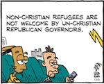 Thumbnail image for La Cucaracha: GOP governors have no room at the inn (toon)