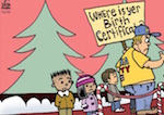 Thumbnail image for La Cucaracha: Your name is 'Santa'? Show me your papers (toon)