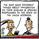 Thumbnail image for La Cucaracha: The GOP's mixed messages for Latinos (toon)