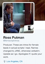 Thumbnail image for Hollywood producer's Twitter feed highlights sexism in scripts