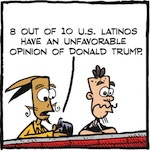 Thumbnail image for La Cucaracha: Who exactly are those Latinos for Trump? (toon)