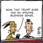 Thumbnail image for La Cucaracha: Donald Trump, business tycoon (toon)