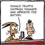Thumbnail image for La Cucaracha: Stop violence at Donald Trump campaign rallies (toon)