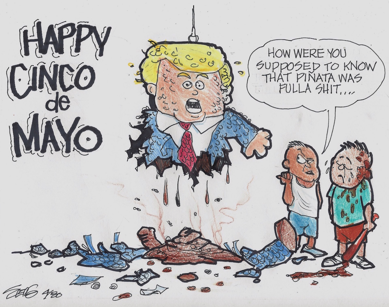 by SERG HERNANDEZ on May 5, 2016 in Cartoons , El Now